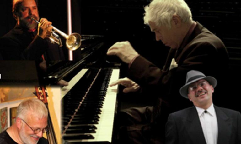 "Collage of four musicians who will be performing at ""An Evening of Jazz Classics"""