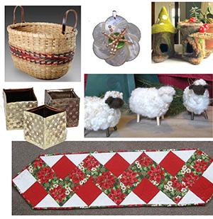 Handmade Holiday collage of items