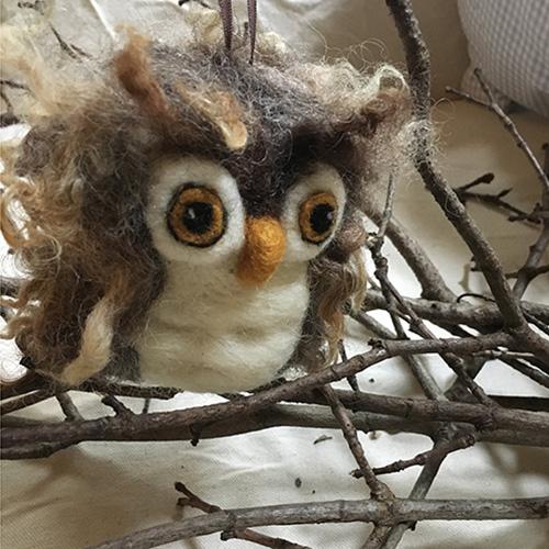 Needle Felting Workshop Owl