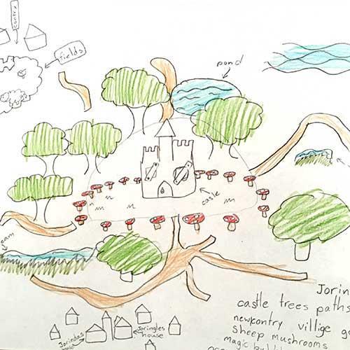 Drawing created in ArtsVoyage program