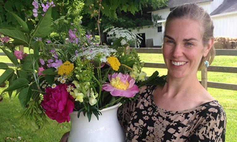 Jenny Elliott, owner and lead grower at Tiny Hearts Farm in Copake, NY