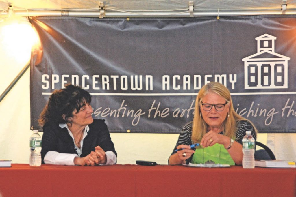 American Chef Ruth Reichl and Spencertown Academy Vice President Madaline Sparks