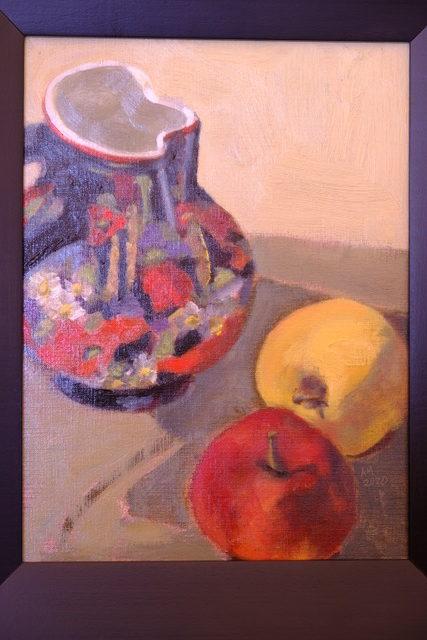 Alice McGowan Czech Pitcher & Apples
