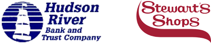 Hudson River Bank and Trust logo and Stewart's Shops logo
