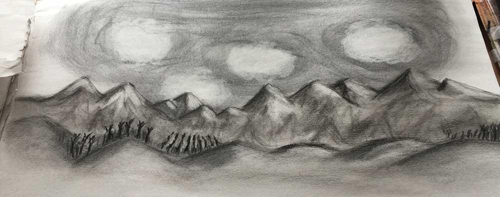 Malina Thuy Jackson charcoal drawing
