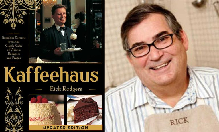"""Book cover """"Kaffeehaus"""" and author Rick Rodgers"""